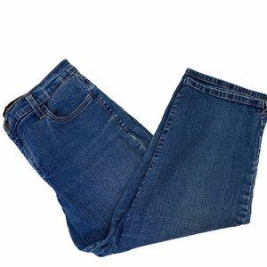 NYDJ Wide Leg Denim Stretch High Rise Capri Jean 8